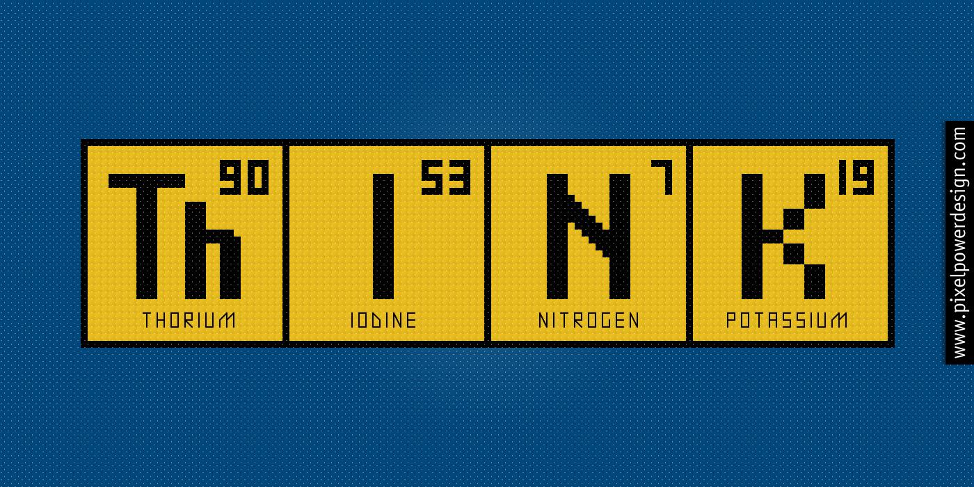 Periodic Table Think Cross Stitch Pattern
